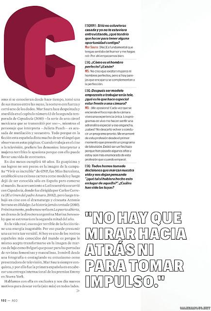 Mar Saura Revista Esquire México Agosto 2015