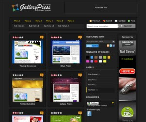 Black Gallery Press Blogger Template