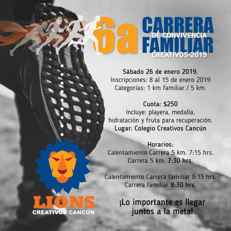 6 ta Carrera Familiar Creativos 2019