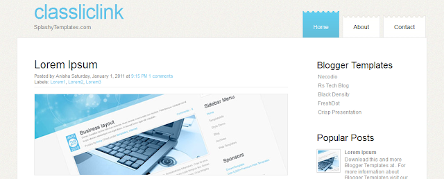 Simple Free Blogger Template