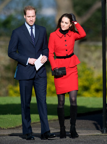 kate middleton leather gloves. Prince William and Kate