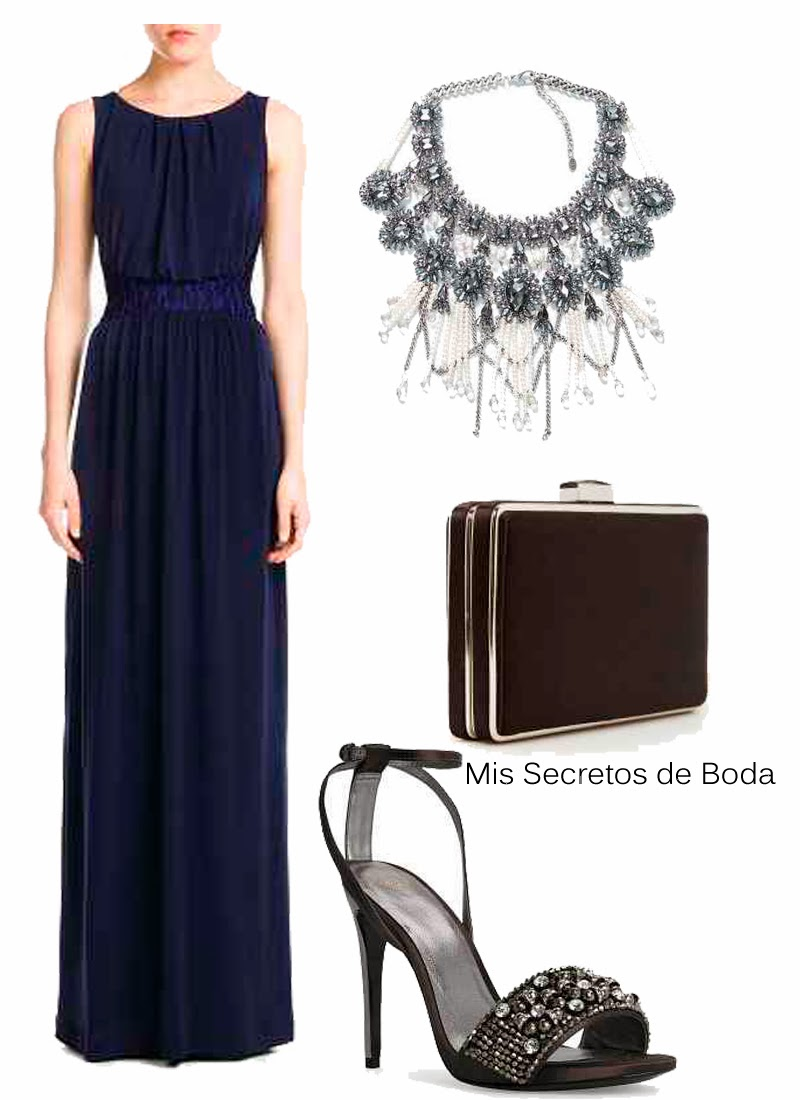 Looks Invitada. Azul Marino y Plata.