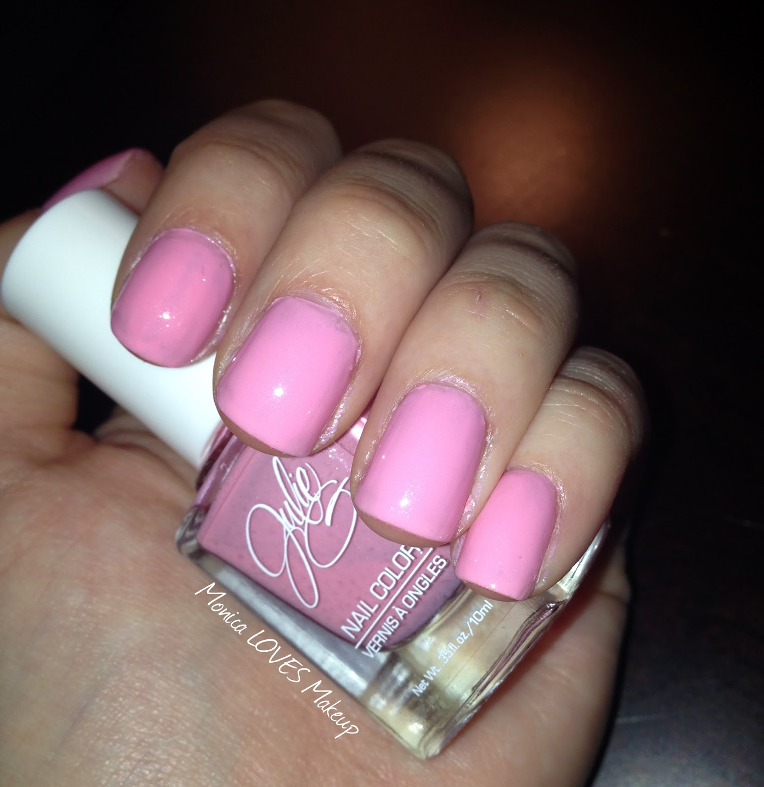 "Cotton Candy Satin Fingernail Polish: Monica LOVES Makeup: Julie G Nail Color ""Cotton Candy"""