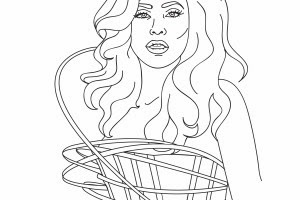 lady gaga coloring pages best coloring page lady gaga 300x200
