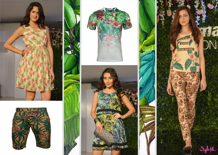 summer, spring, SS 15, collection, fashion, style, tropical prints, tropical, nature, rain forest