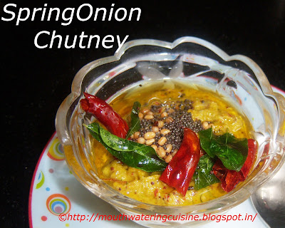 Spring Onion Chutney