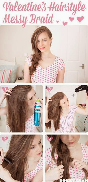 Step by Step Hair Style Tutorial For  Valentines ...