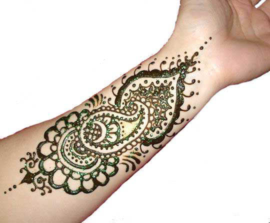 Mehndi Designs For Wrist : Mehndi designs for wrist