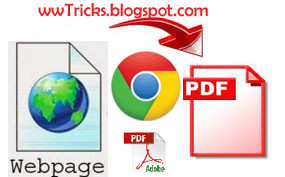 save webpage as pdf in google chrome