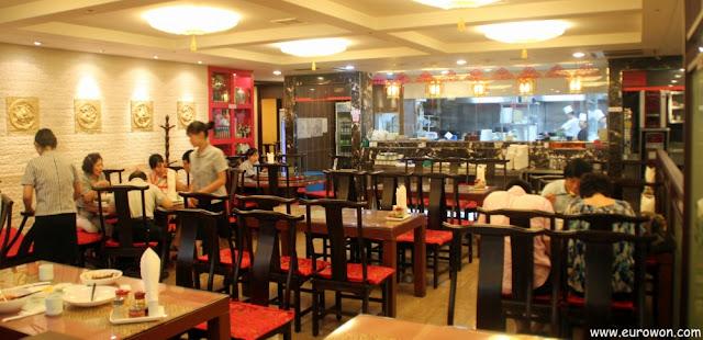 Interior del restaurante chino Hyeollaejang (현래장)