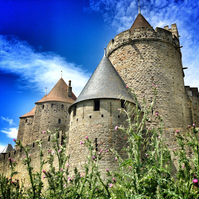city of carcassonne in the south of france
