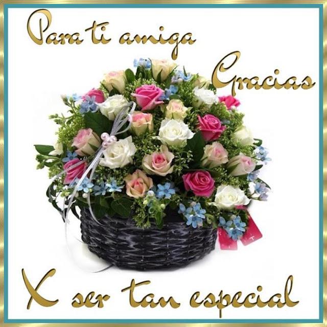 Para ti querida especial Amiga Gracias postales para facebook