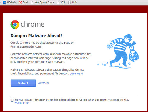 Malware in Google Chrome