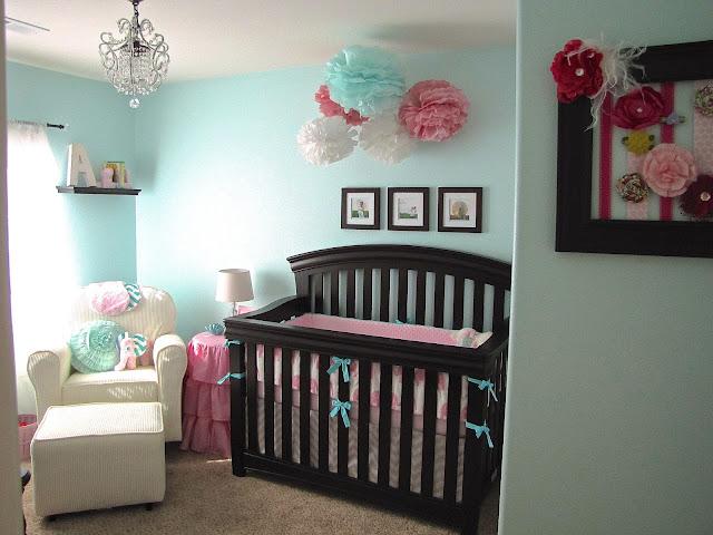The Modest Homestead Ava S Pretty Pink And Aqua Nursery