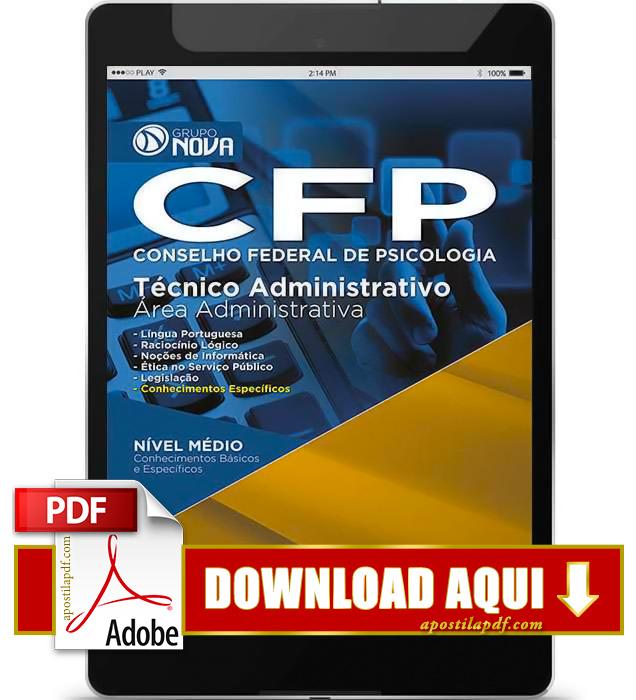 Apostila CFP DF 2015 PDF Download Técnico Administrativo