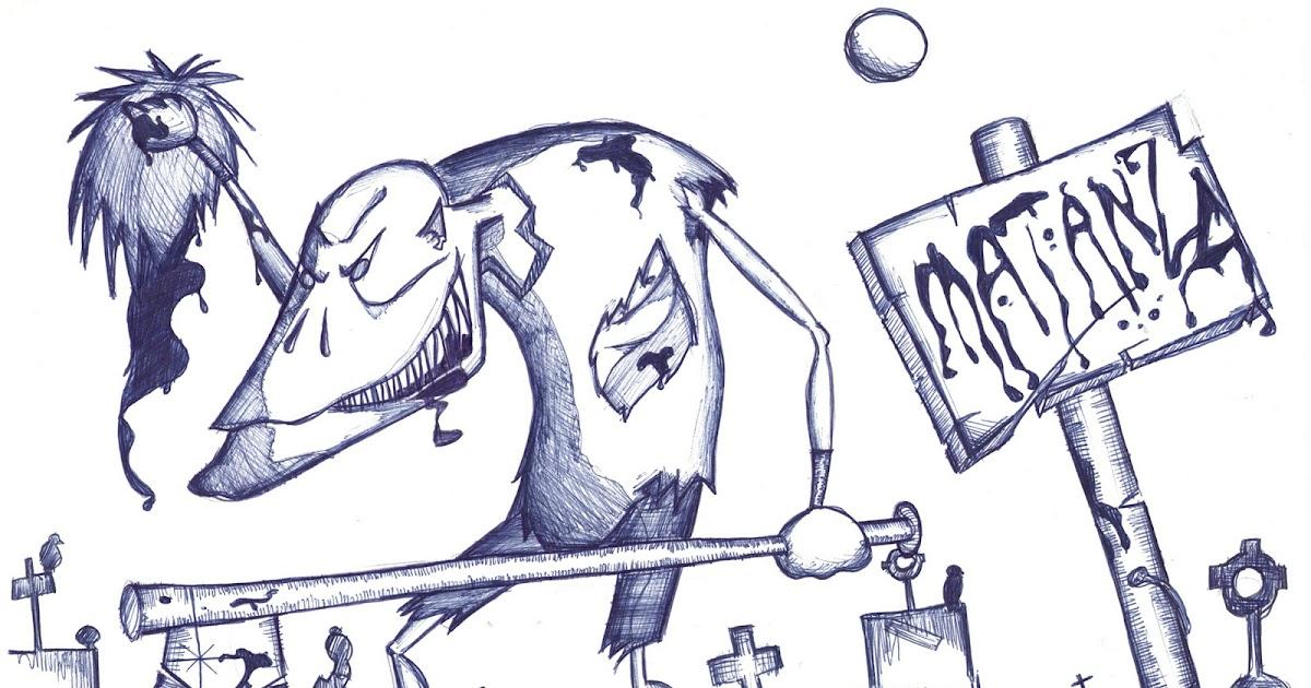 drfrikicomics: Dibujo de personaje de terror