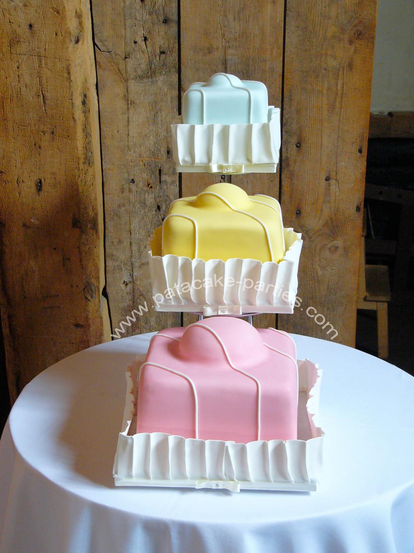 Pat a Cake Parties Fondant Fancy Wedding Cake