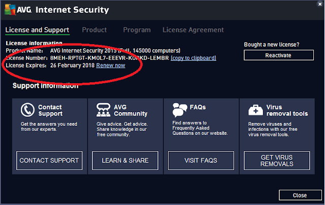 AVG Internet Security 2015 Valid License