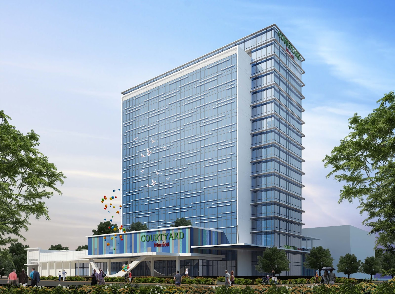 Php 1 5 B Courtyard By Marriott Hotel To Rise At Megaworld