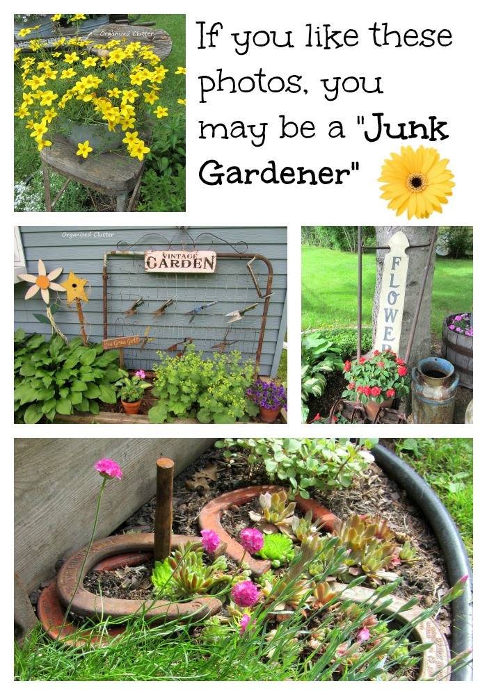 Junk Garden Decor www.organizedclutterqueen.blogspot.com