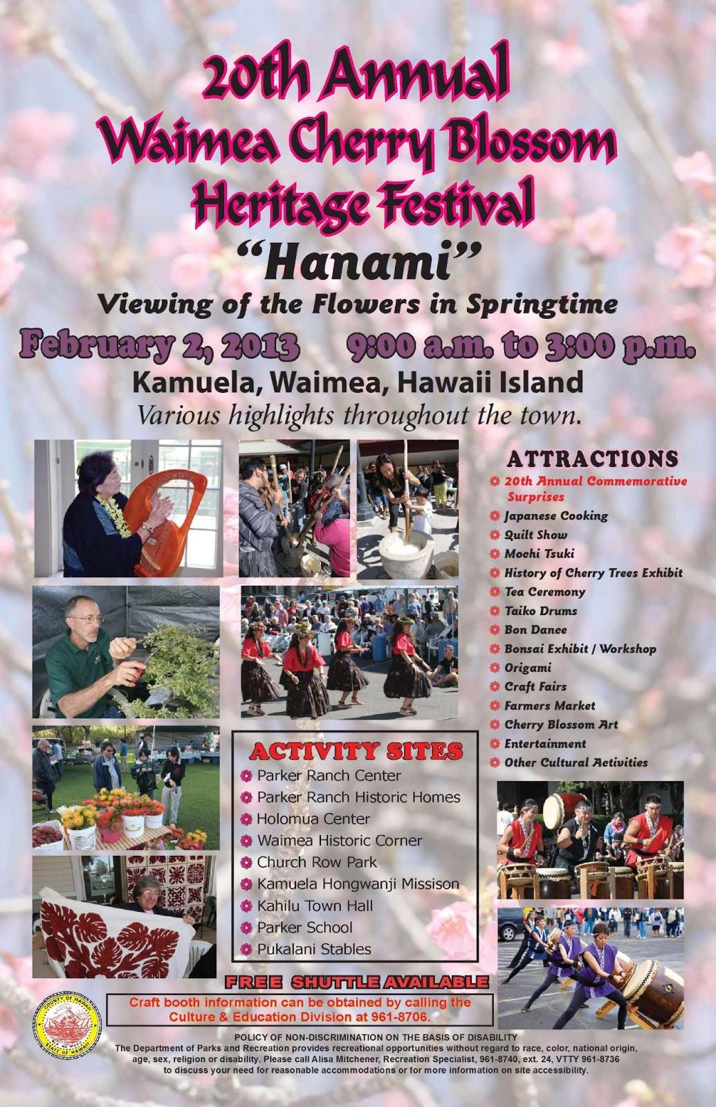 Ho okuleana  Hanami - Waimea Cherry Blossom Heritage Festival f83351356bb28