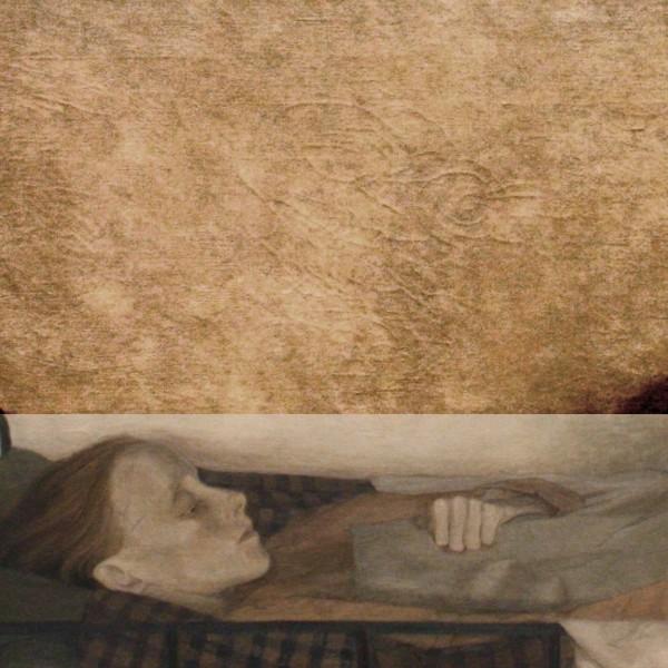 Udsnit fra 'Den syge pige' af Ejnar Nielsen