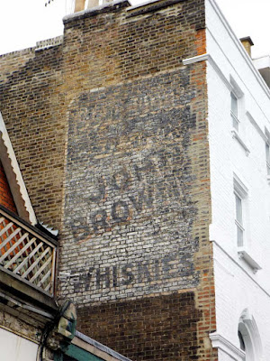 john brown whiskies ghost sign stoke newington