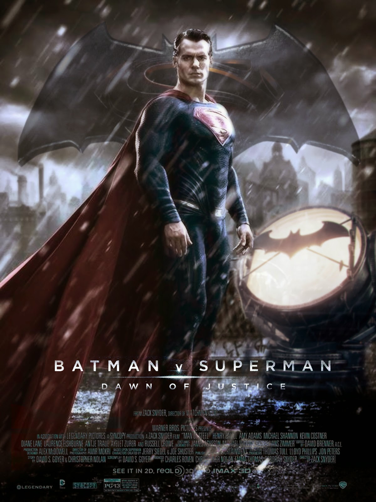 Batman v Superman: Dawn of Justice Superman Character Poster by GeekSummit