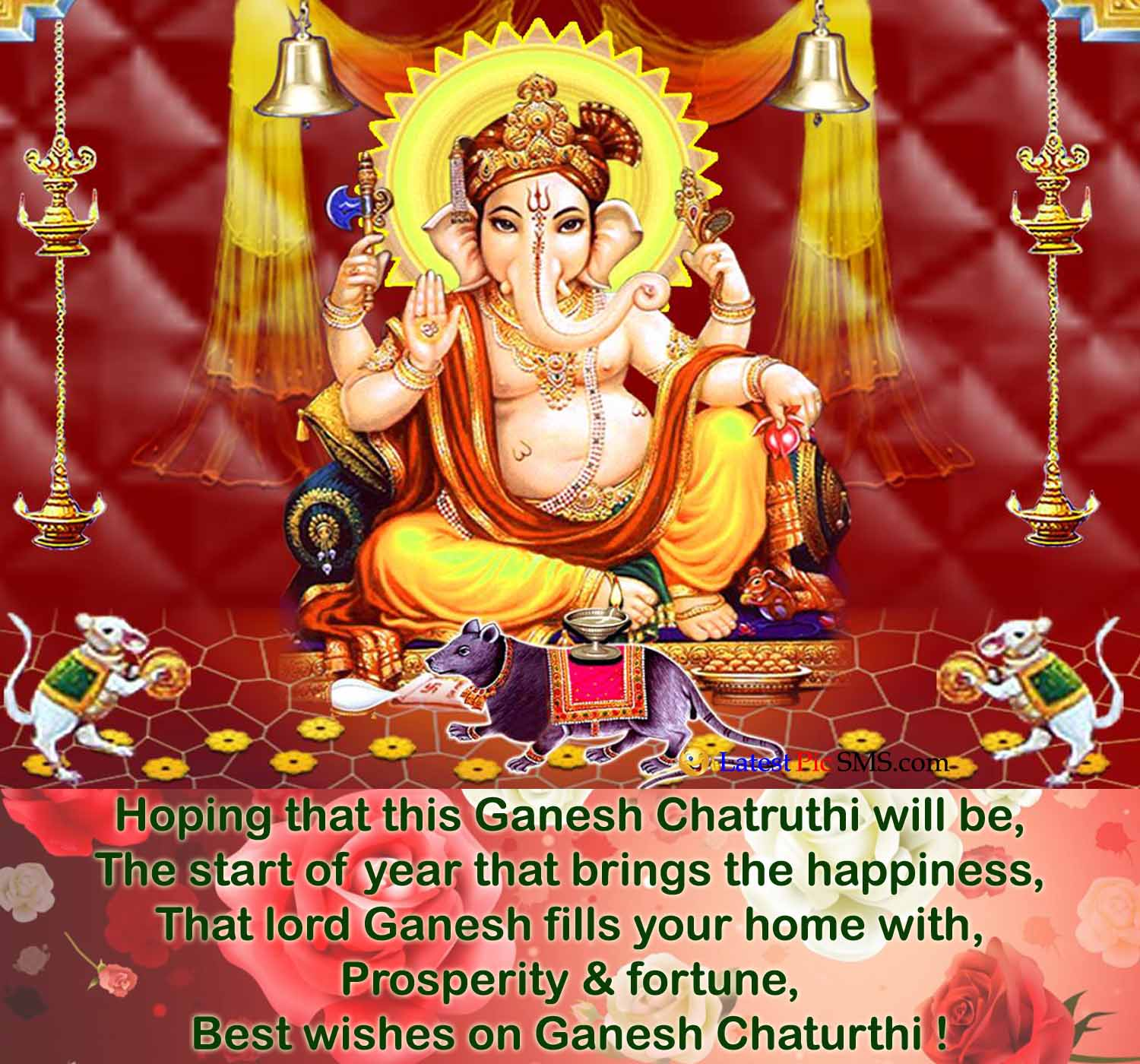 Best Wishes on Ganesh Chaturthi photo quotes