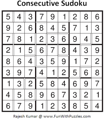 Consecutive Sudoku (Fun With Sudoku #100)