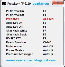 Cheat Presskey CFS, Hack PF + No Red Key AyoDance V6119