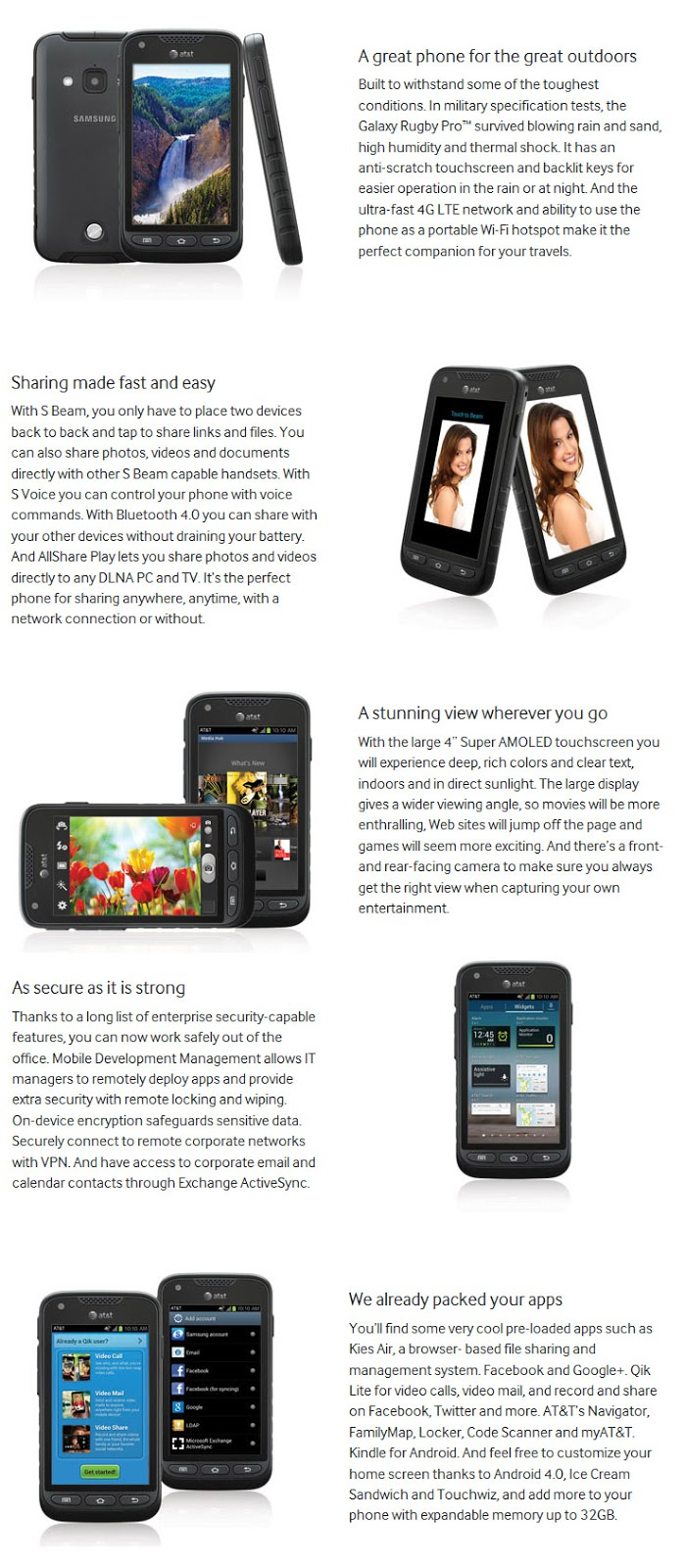 Hp Outdoorponsel Smartphone Android Adventure Harga Murah Terbaik New Samsung Galaxy Rugby Pro I547 4g Lte Outdoor