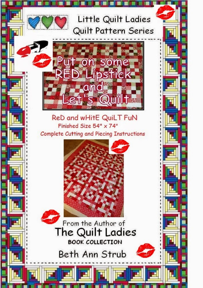 Put on Some RED Lipstick and Let's Quilt  A RED QUILT Pattern Book