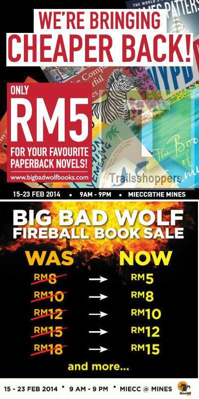 The Big Bad Wolf FIREBALL Book Sale MIECC Seri Kembangan Selangor