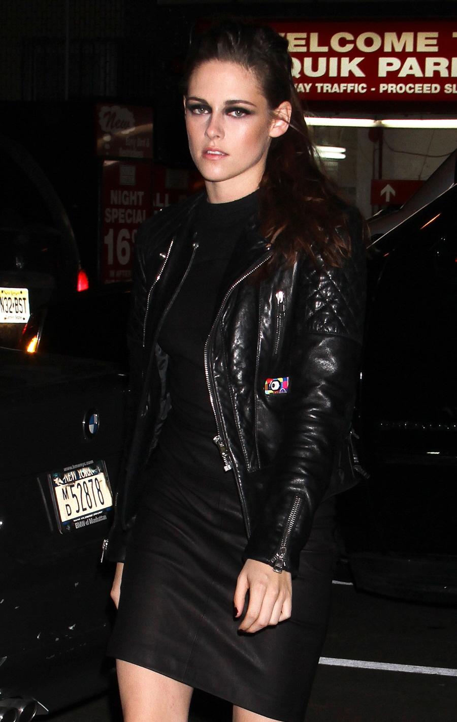 Kristen Stewart Tout En Noir Cuir Ellicson 39 S Fashion Blog Comme Mode Et Style