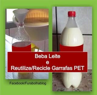 Reutilize as garrafas PET