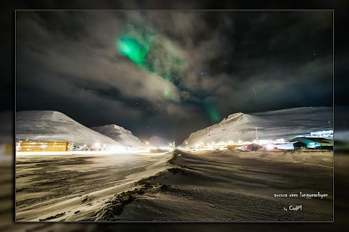 Nordlys over Longyearbyen