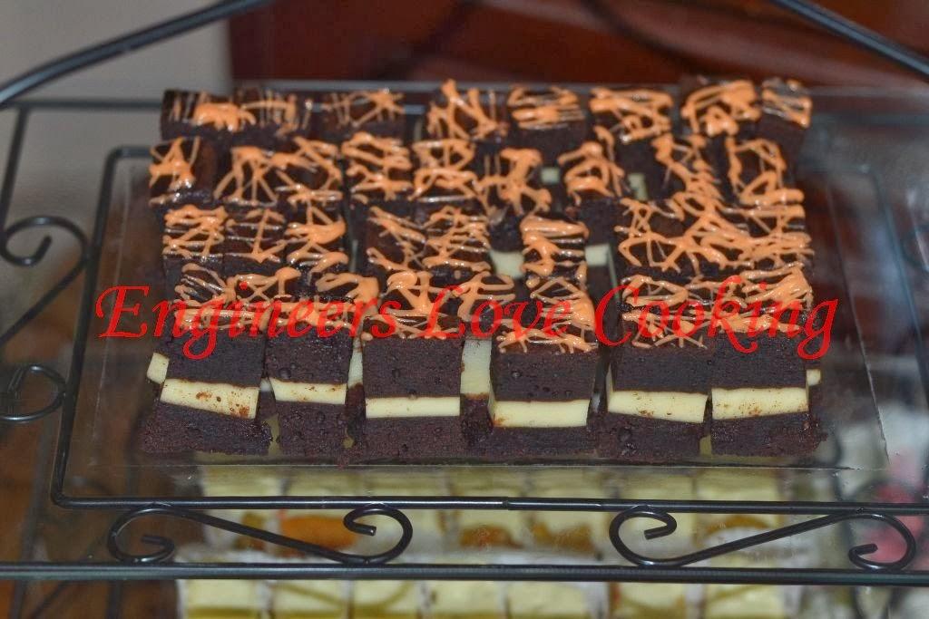kek coklat lapis cream cheese /  cream cheese layered chocolate cake