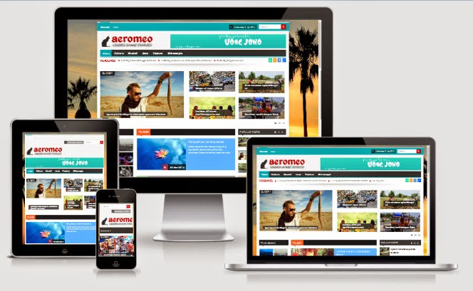 Aeromeo Responsive Magazine Blogger Template | King Gecko Template