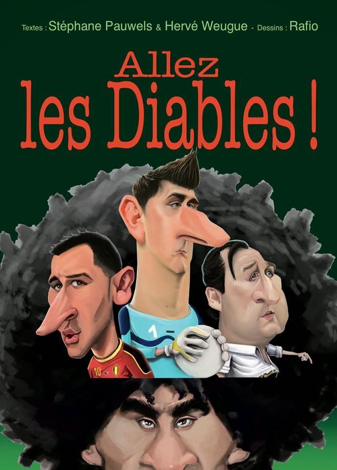 caricature les diables rouges Belgique