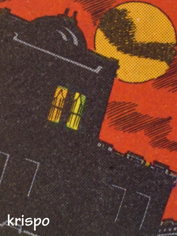 dibujo de edificio en viñeta de comic