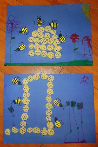 how to make a honey bee for school project