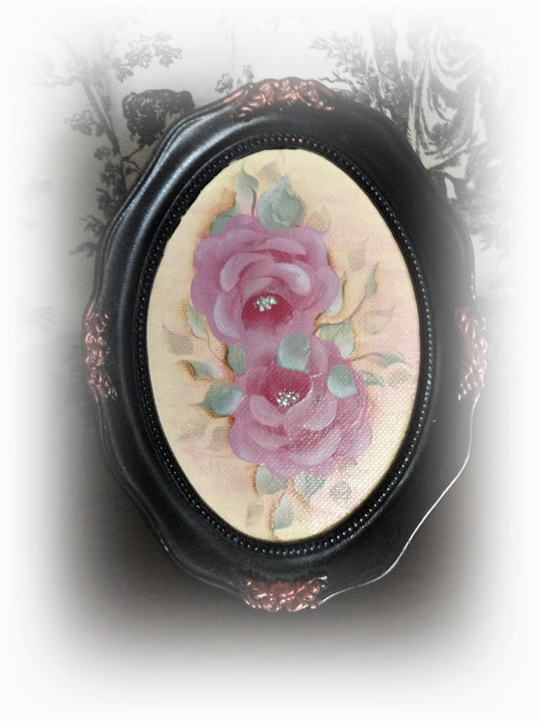 Vintage Rose Charm