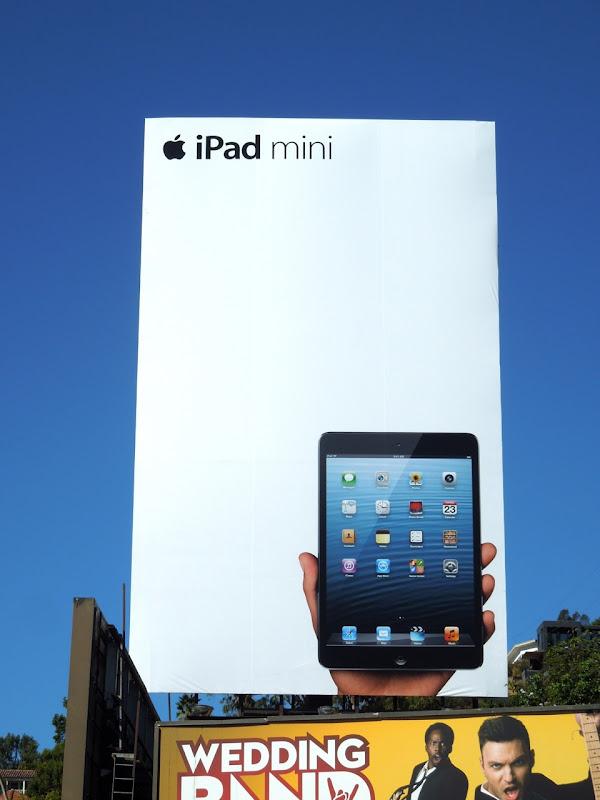 Giant black iPad mini billboard Sunset Strip