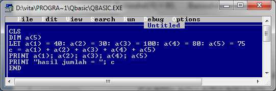 Fungsi dari semua jenis jenis array pada qbasic jenis jenis array pada qbasic