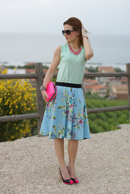 fornarina circle skirt