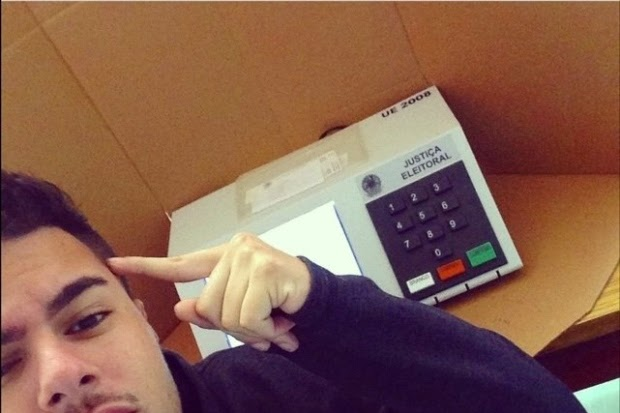 selfie na urna eleições 2014 #selfienaurna
