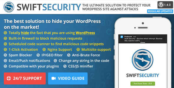 Swift Security Bundle v1.4.0.4 – Hide WordPress, Firewall
