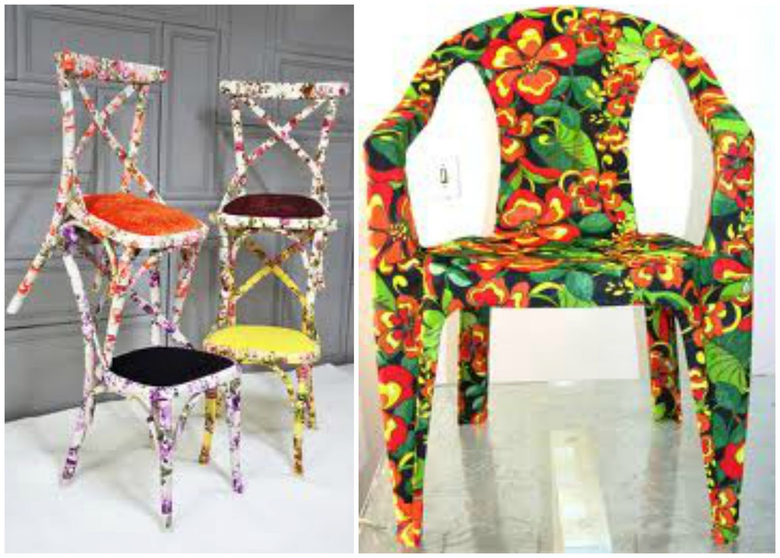 : Reformando Cadeiras de Madeira e de Plástico e Peças em Patchwork #AC2B1F 1600x1145