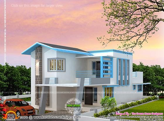 Corner Window House With Plan Kerala Home Design And Floor Plans